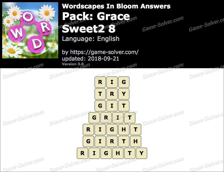 Wordscapes In Bloom Grace-Sweet2 8 Answers