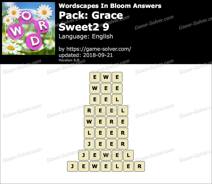 Wordscapes In Bloom Grace-Sweet2 9 Answers