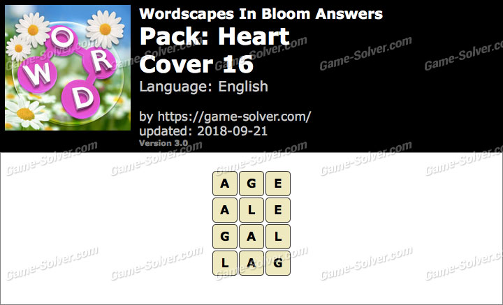 Wordscapes In Bloom Heart-Cover 16 Answers