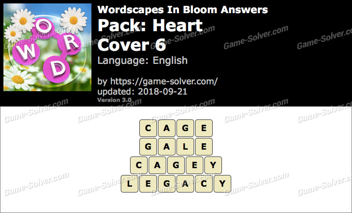 Wordscapes In Bloom Heart-Cover 6 Answers