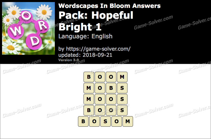 Wordscapes In Bloom Hopeful-Bright 1 Answers