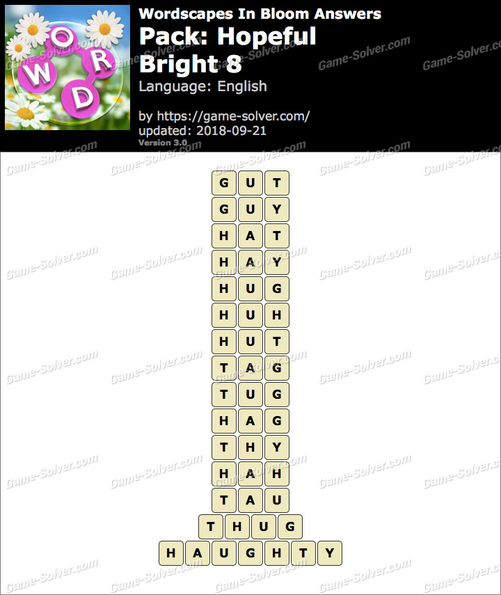 Wordscapes In Bloom Hopeful-Bright 8 Answers