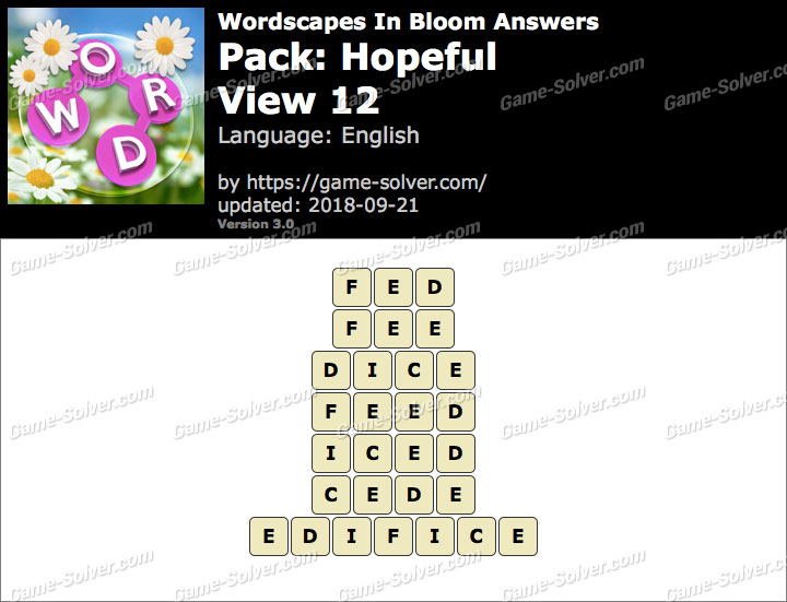 Wordscapes In Bloom Hopeful-View 12 Answers