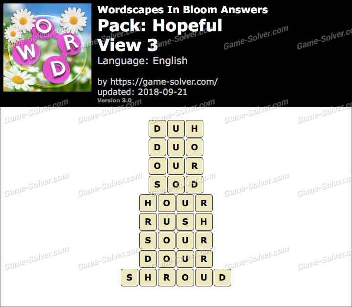 Wordscapes In Bloom Hopeful-View 3 Answers