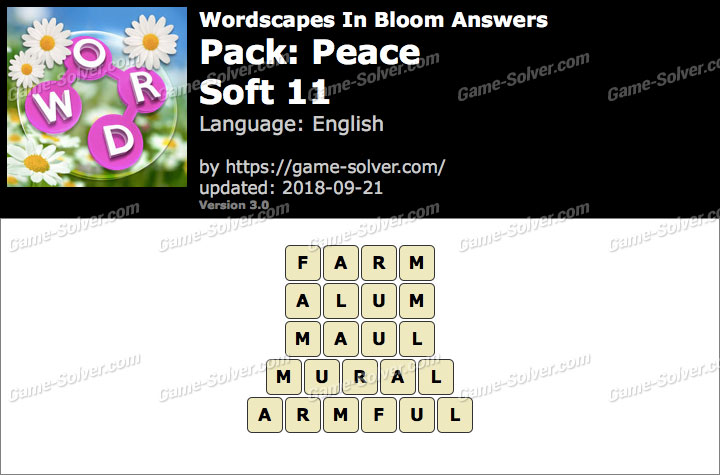 Wordscapes In Bloom Peace-Soft 11 Answers