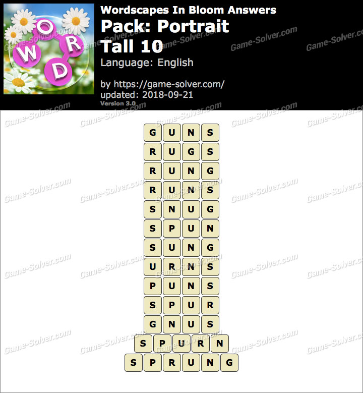 Wordscapes In Bloom Portrait-Tall 10 Answers