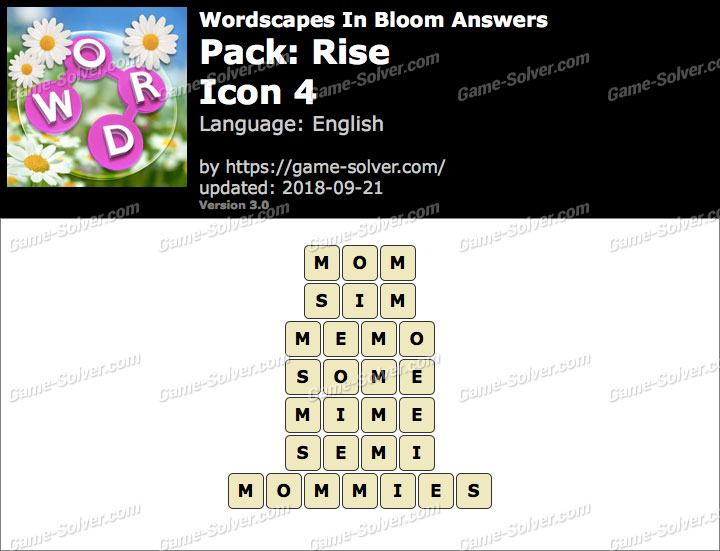 Wordscapes In Bloom Rise-Icon 4 Answers