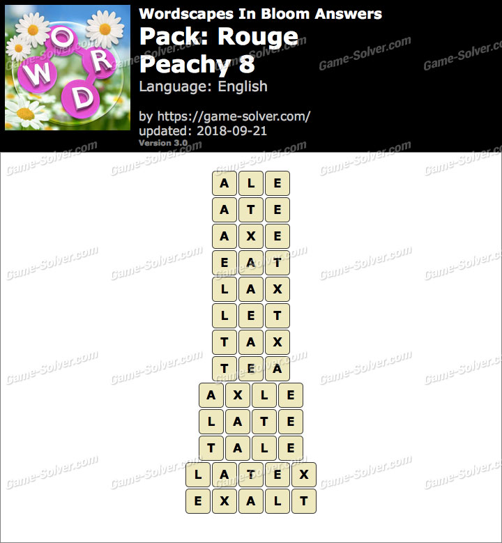 Wordscapes In Bloom Rouge-Peachy 8 Answers