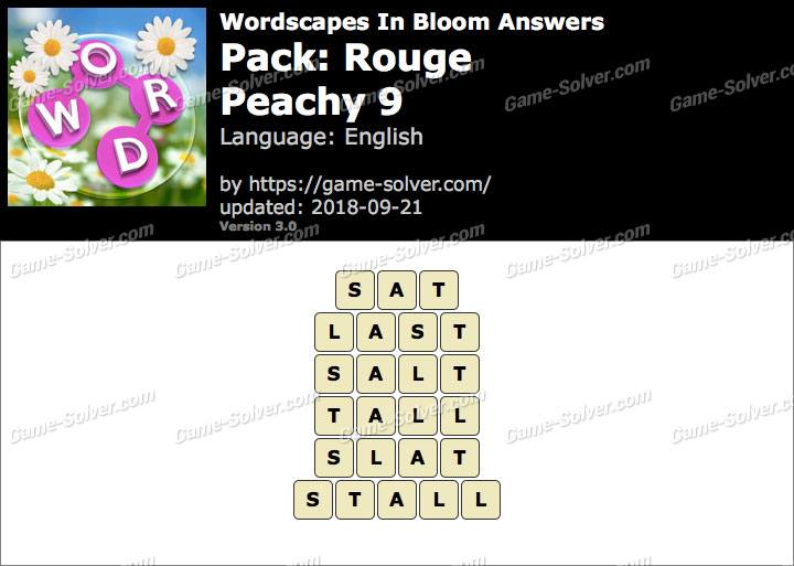 Wordscapes In Bloom Rouge-Peachy 9 Answers