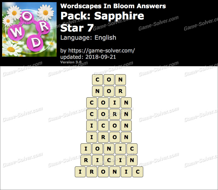 Wordscapes In Bloom Sapphire-Star 7 Answers