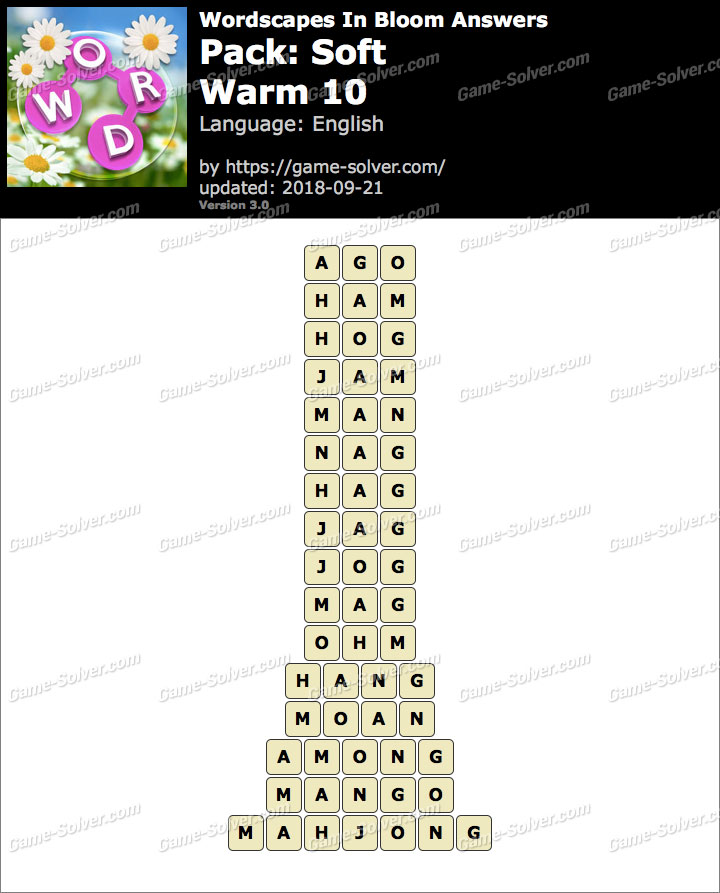 Wordscapes In Bloom Soft-Warm 10 Answers