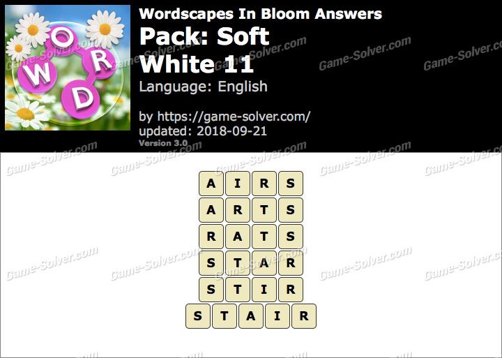 Wordscapes In Bloom Soft-White 11 Answers