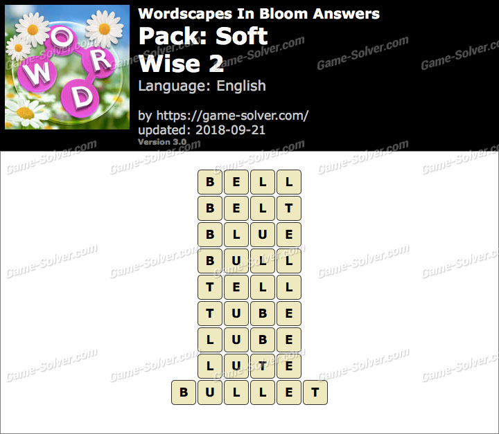Wordscapes In Bloom Soft-Wise 2 Answers