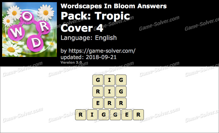 Wordscapes In Bloom Tropic-Cover 4 Answers