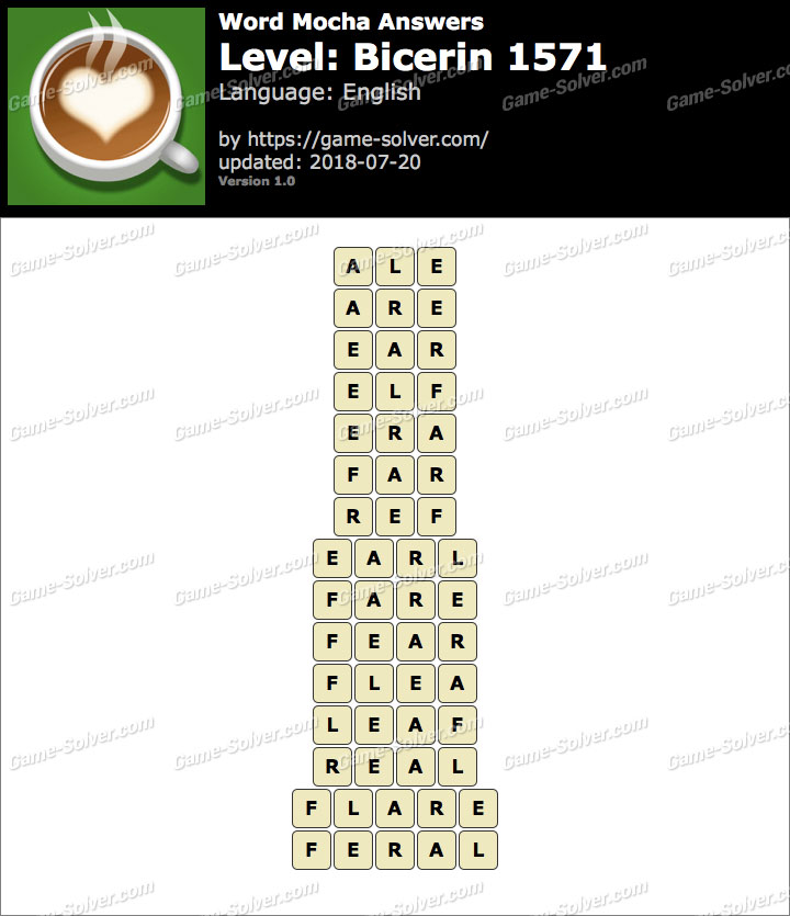 Word Mocha Bicerin 1571 Answers