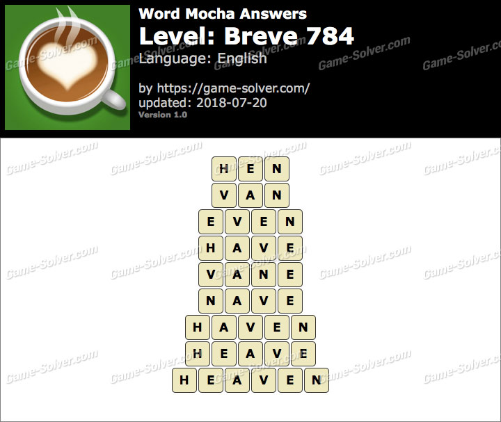 Word Mocha Breve 784 Answers