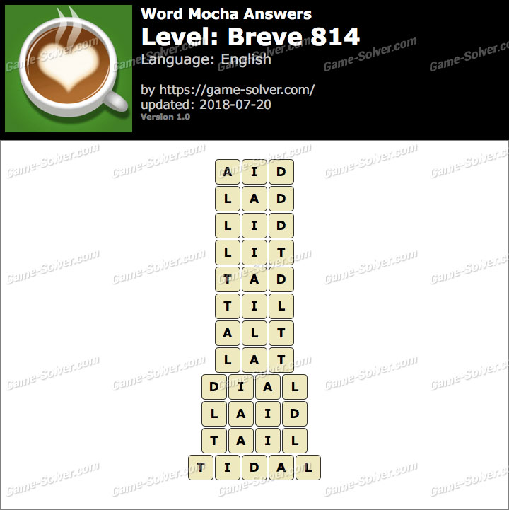 Word Mocha Breve 814 Answers