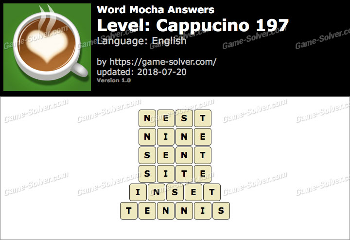 Word Mocha Cappucino 197 Answers