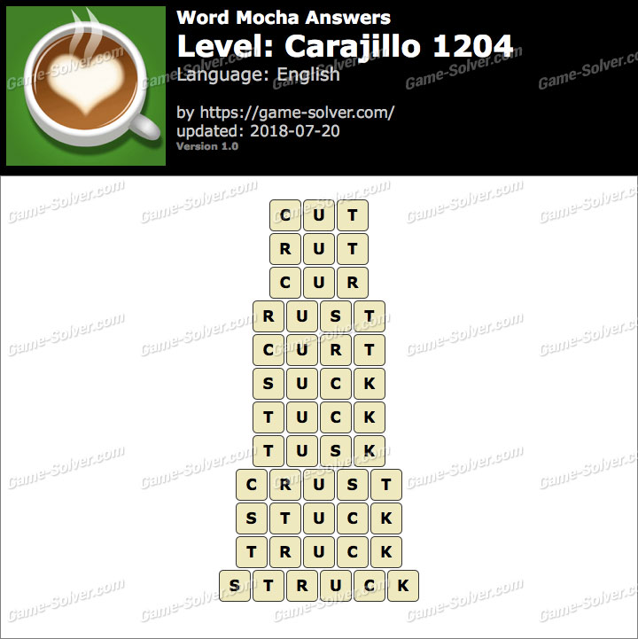 Word Mocha Carajillo 1204 Answers