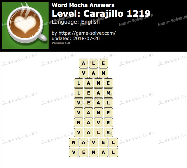 Word Mocha Carajillo 1219 Answers