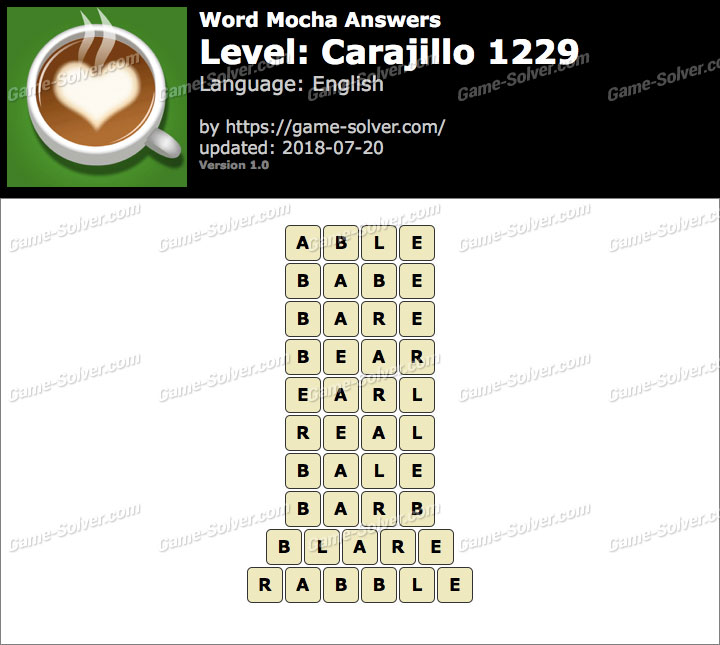 Word Mocha Carajillo 1229 Answers