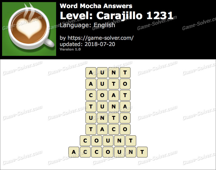 Word Mocha Carajillo 1231 Answers
