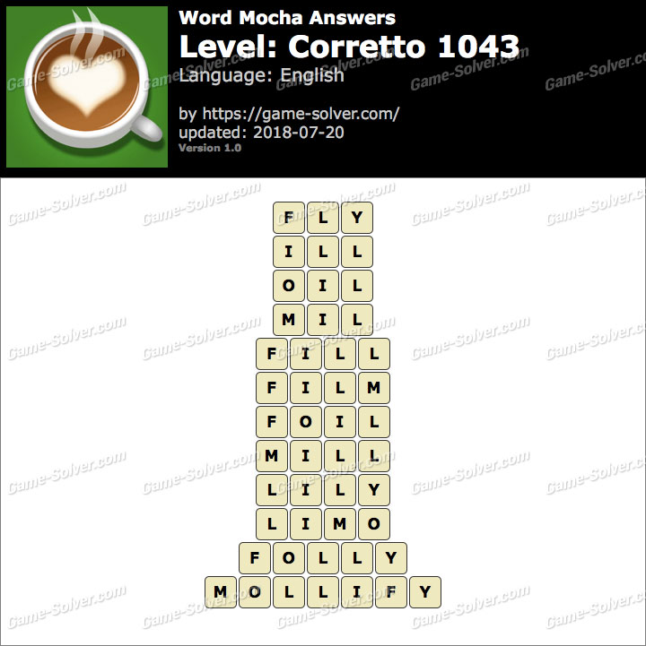 Word Mocha Corretto 1043 Answers