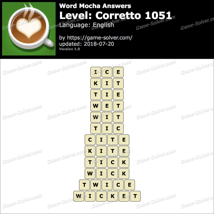 Word Mocha Corretto 1051 Answers