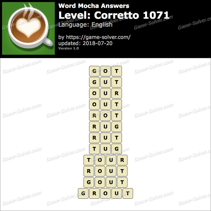 Word Mocha Corretto 1071 Answers