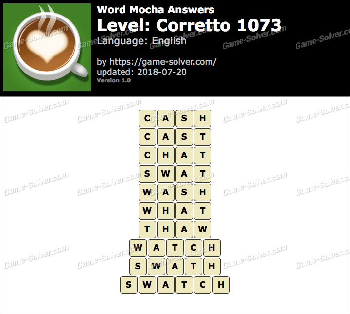 Word Mocha Corretto 1073 Answers