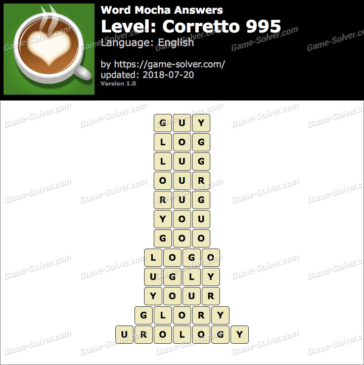 Word Mocha Corretto 995 Answers