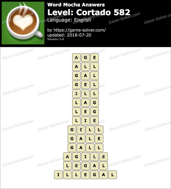 Word Mocha Cortado 582 Answers