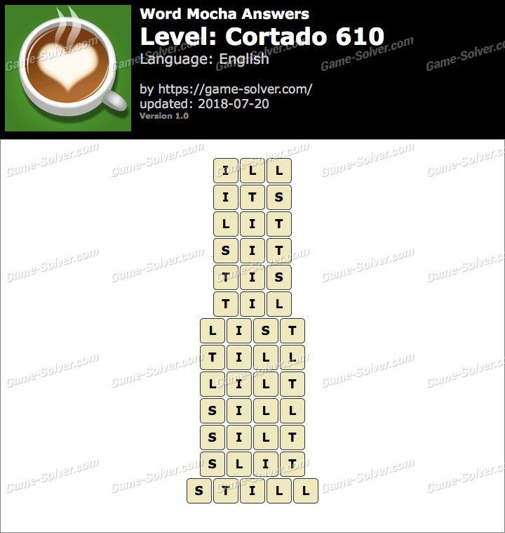 Word Mocha Cortado 610 Answers