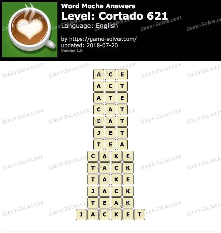 Word Mocha Cortado 621 Answers