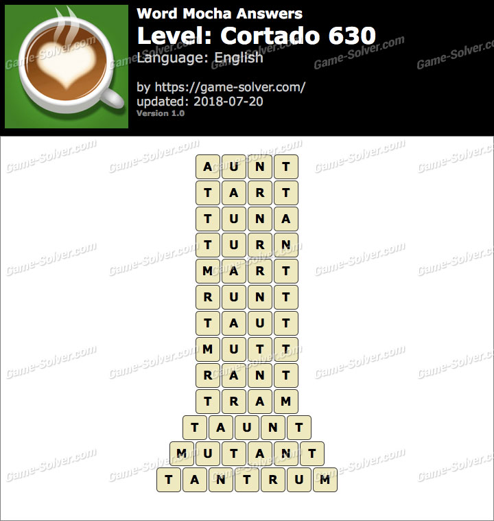 Word Mocha Cortado 630 Answers