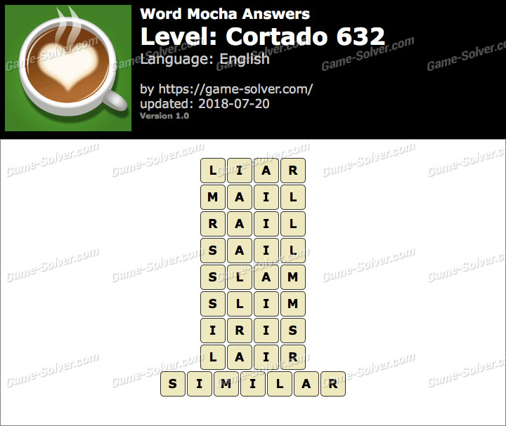 Word Mocha Cortado 632 Answers