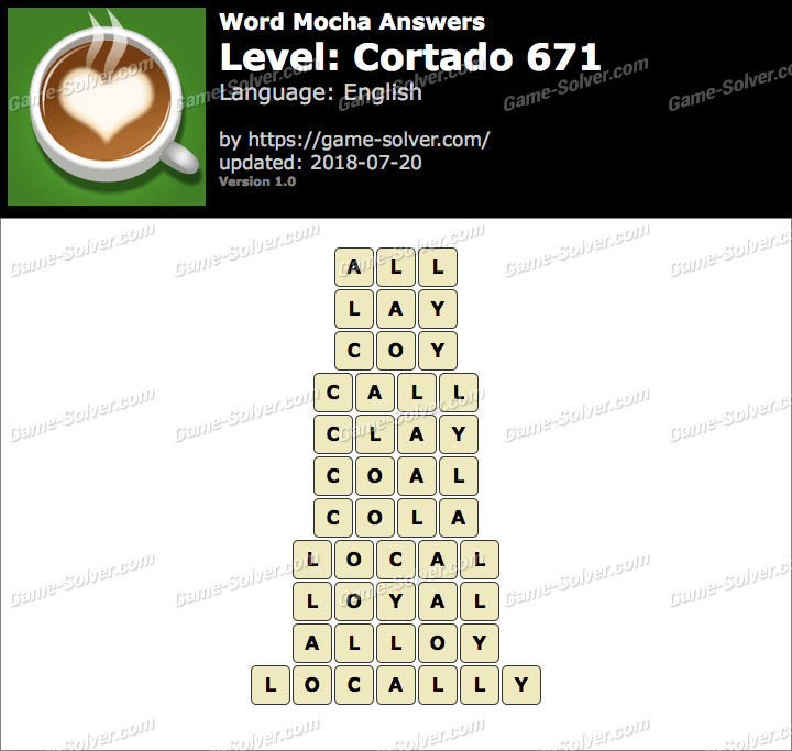 Word Mocha Cortado 671 Answers