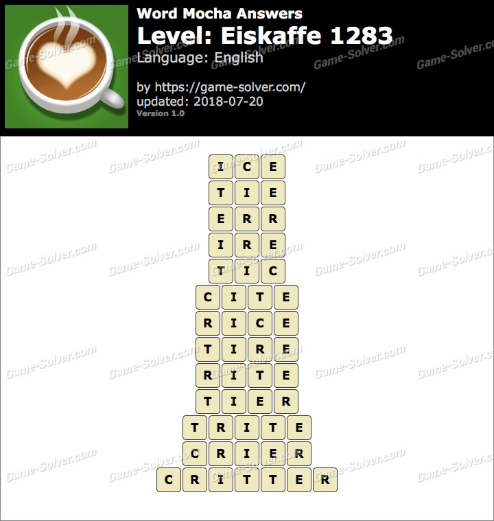 Word Mocha Eiskaffe 1283 Answers
