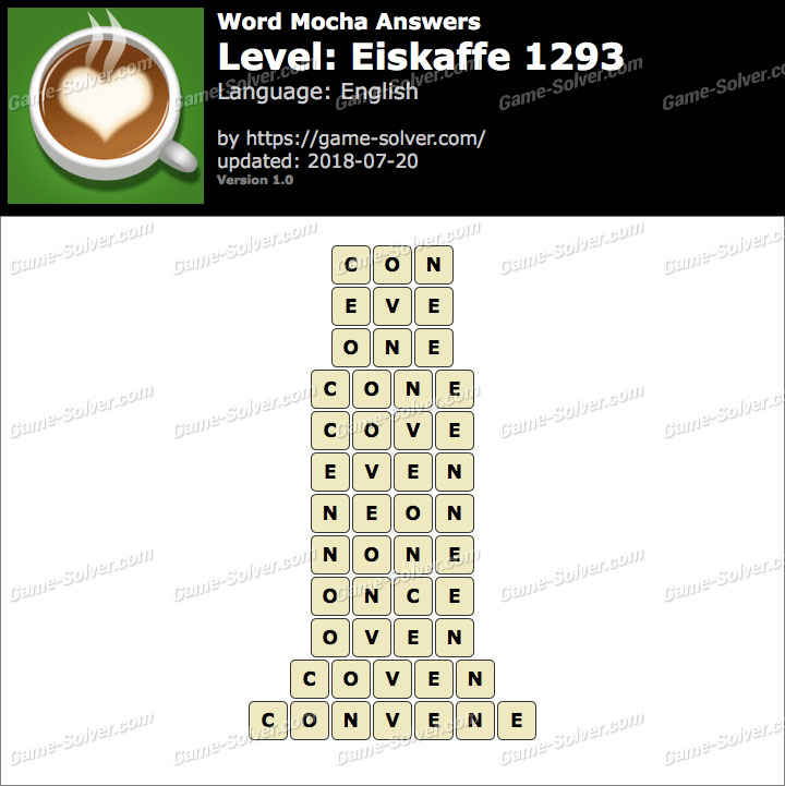 Word Mocha Eiskaffe 1293 Answers
