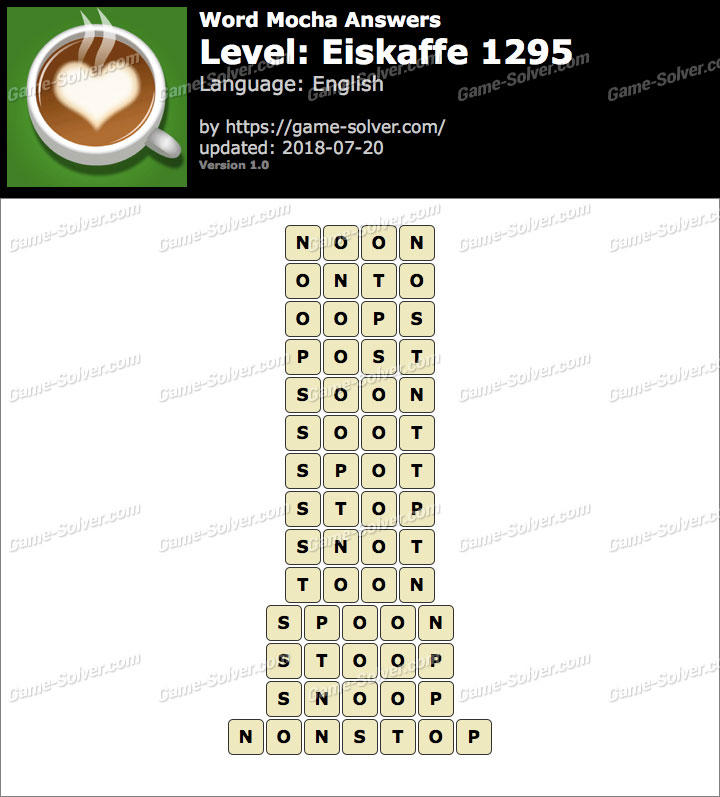 Word Mocha Eiskaffe 1295 Answers