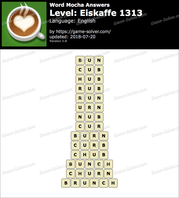 Word Mocha Eiskaffe 1313 Answers