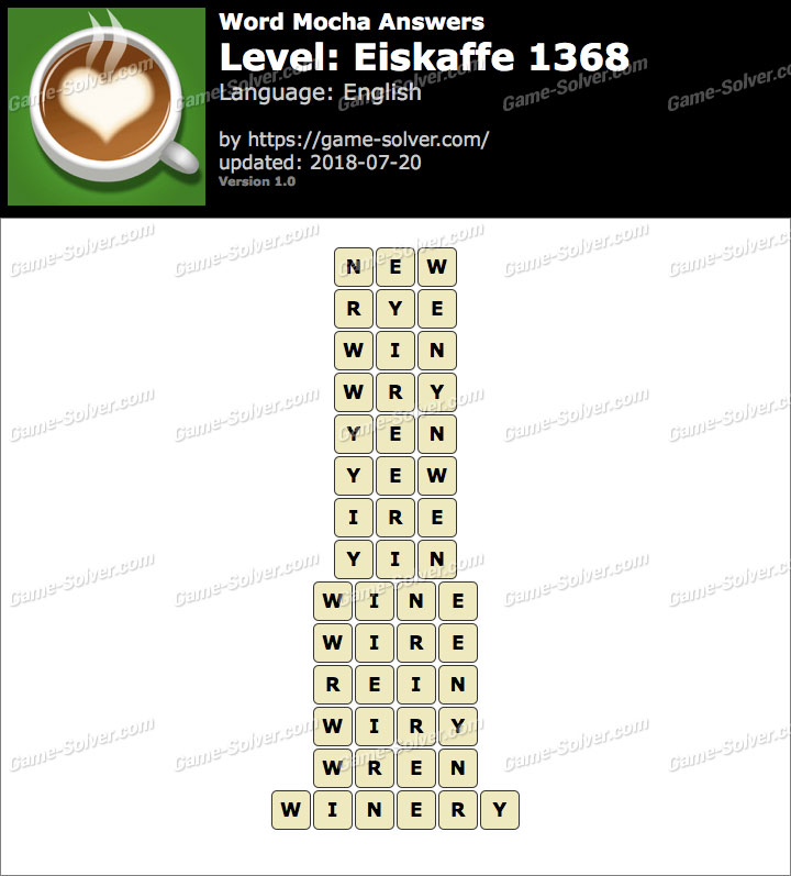 Word Mocha Eiskaffe 1368 Answers
