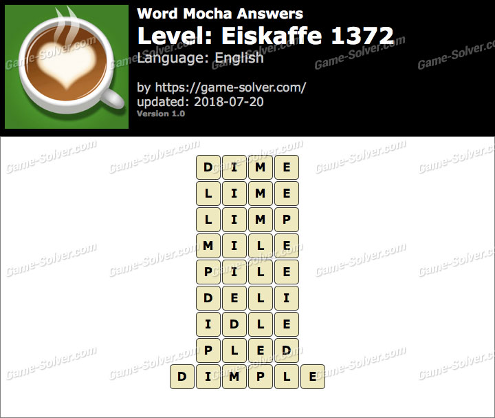 Word Mocha Eiskaffe 1372 Answers