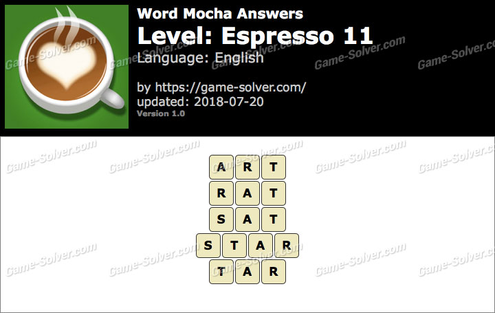 Word Mocha Espresso 11 Answers