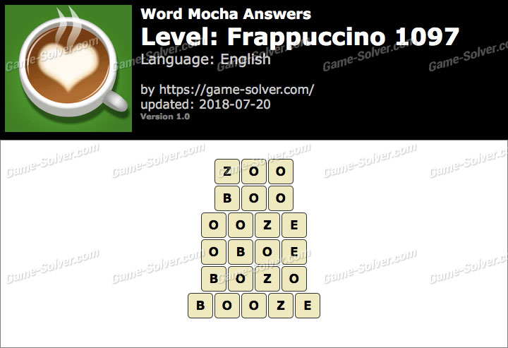 Word Mocha Frappuccino 1097 Answers