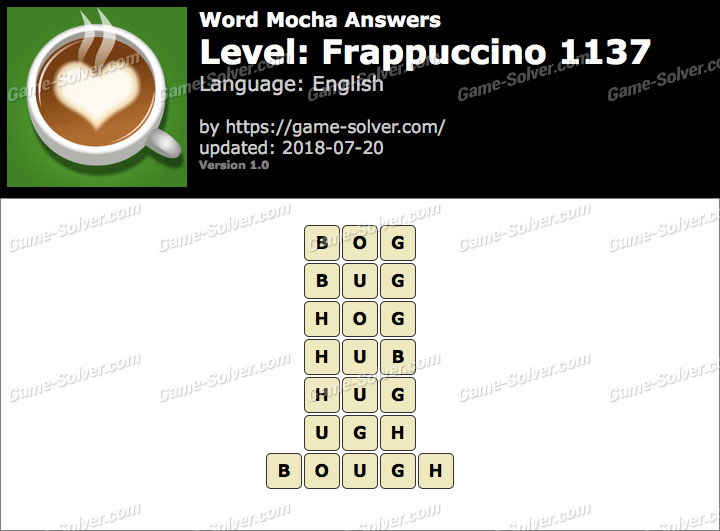 Word Mocha Frappuccino 1137 Answers