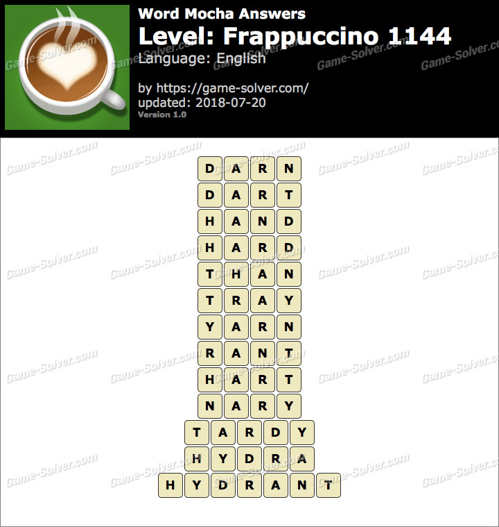 Word Mocha Frappuccino 1144 Answers