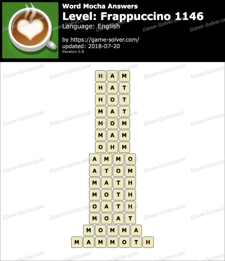 Word Mocha Frappuccino 1146 Answers