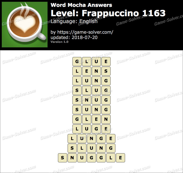 Word Mocha Frappuccino 1163 Answers