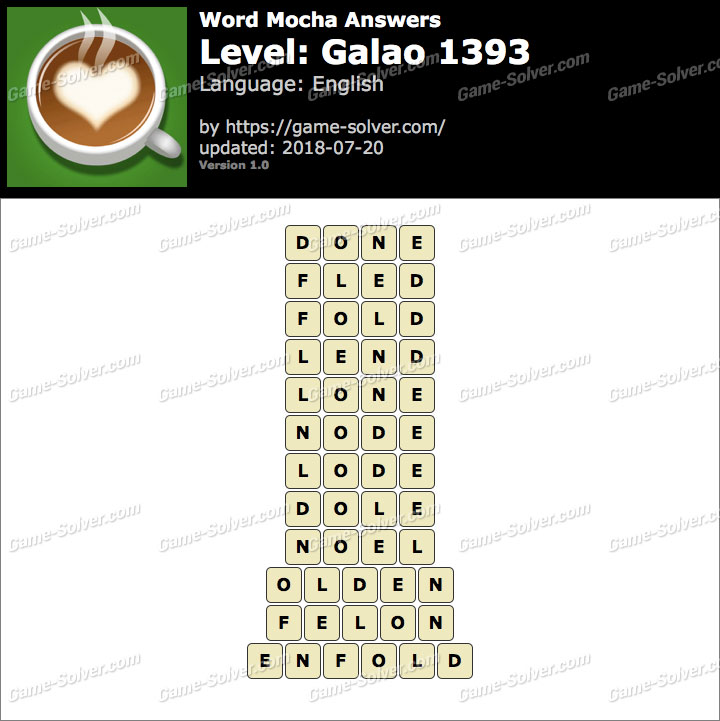 Word Mocha Galao 1393 Answers